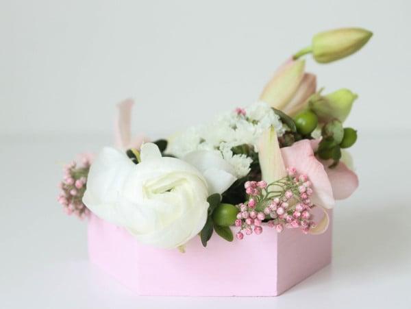 Diy Hexagon Wedding Table Centerpiece With Flowers, Oriental Trading