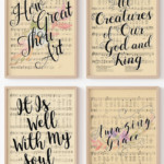 Easter Hymn Art, Printable Vintage Sheet Music Wall Art, Remodelaholic