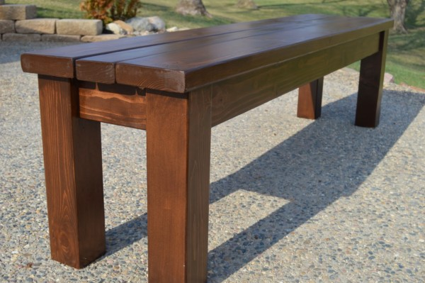 Easy Diy Wood Bench For A Wedding Or Outdoor Dining Table, Kruse's Workshop With Remodelaholic