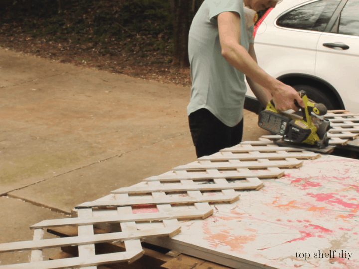 How To Cut Lattice To Make A Climbing Rose Trellis Along A Concrete Foundation Wall, Top Shelf DIY On Remodelaholic