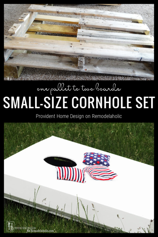 How To Make Cornhole Boards From Pallet Wood, From Remodelaholic