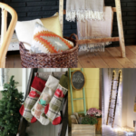 How To Use A Wood Ladder In Home Decor, Blanket Ladder Decorating Ideas, Remodelaholic