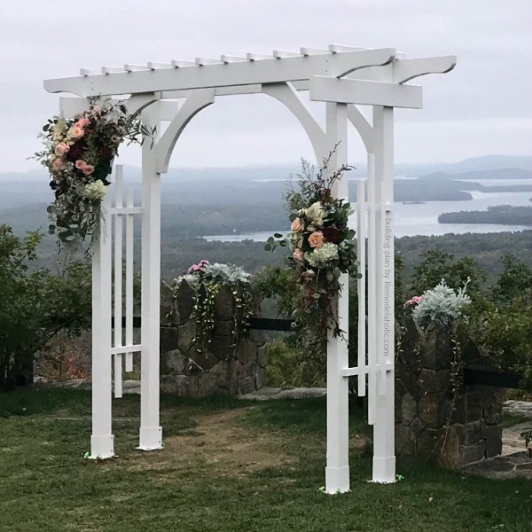 Portable White Wood Wedding Arch Built By Daniel B 9oct19, Plans From Remodelaholic WM Square
