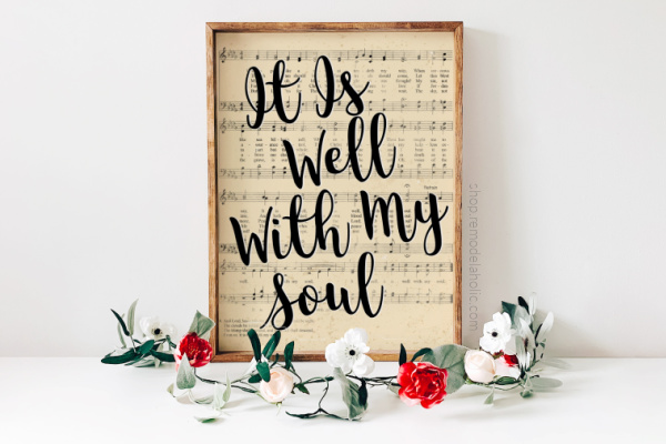 Printable Vintage Sheet Music Art, Easter Hymn It Is Well With My Soul Remodelaholic