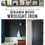 The Perfect Dark Gray Paint Color, Wrought Iron By Benjamin Moore, From Remodelaholic