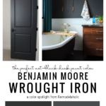 The Perfect Dark Paint Color, Benjamin Moore Wrought Iron, From Remodelaholic
