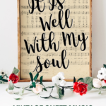 Watercolor Printable Vintage Sheet Music Art Hymn It Is Well With My Soul Remodelaholic