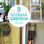 9 Outdoor Ladder Decor Ideas For Porch Ladders And Vertical Planters Remodelaholic