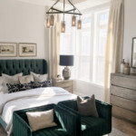Add A Touch Of Color With Emerald Green In This Amazing Transitional Master Bedroom Featured On Remodelaholic.com (1)