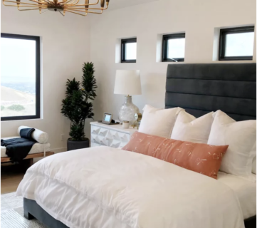 Beautiful Modern Bedroom. UVPH 2018 Home 26 Murdock Builders (14)