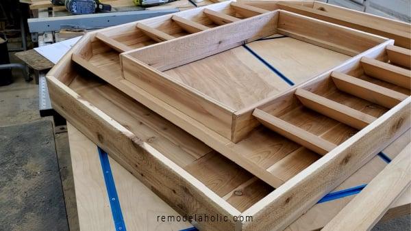DIY Cedar Wood Monogram Letter Planter Slats, Remodelaholic