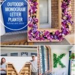 DIY Outdoor Monogram Letter Planter Plans And Tutorial, Remodelaholic