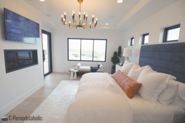Get the look of this beautiful modern glam master bedroom. UVPH 2018 Home 26 Murdock Builders