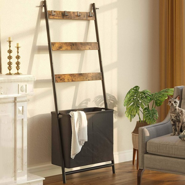 Blanket Ladder With Basket Hamper Hooks, Amazon
