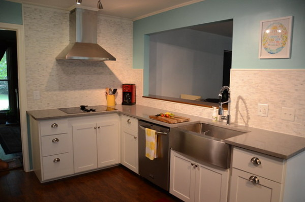 Blue And White Modern Kitchen Remodel, New Green Mama On Remodelaholic