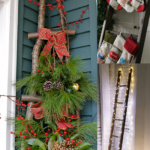 Christmas Ladder Decor Ideas For Stockings Porch Decor And Lights Remodelaholic