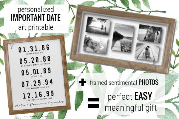 Easy Personalized Gift Idea For Mom Or Spouse, Printable Art And Photos, Remodelaholic