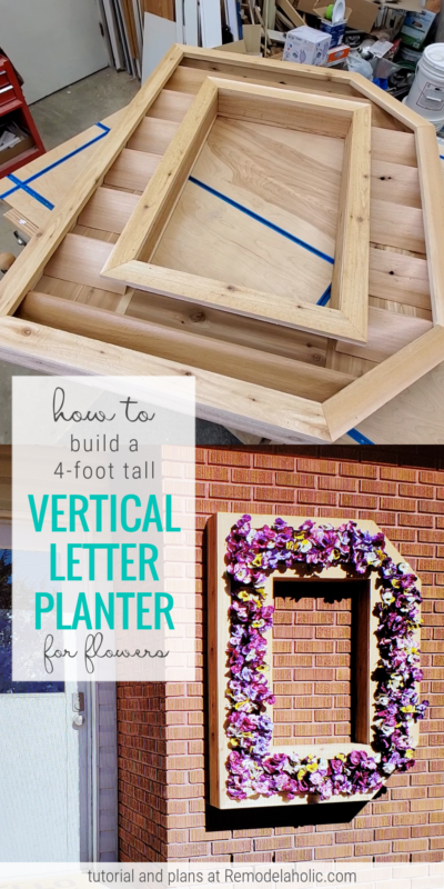 How To Build A DIY Outdoor Wood Monogram Letter Planter, Remodelaholic