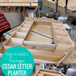 How To Build A Large Outdoor Cedar Letter Planter Plans And Tutorial, Remodelaholic