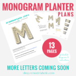 Large Cedar Monogram Letter Planter Plans, Remodelaholic