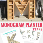 Large Monogram Planter Plans To Build A Cedar Letter Vertical Planter, Remodelaholic