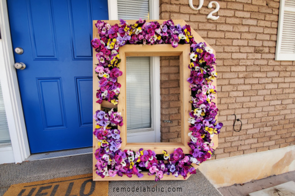 Letter D Cedar Monogram Planter For Flowers, Remodelaholic