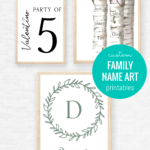 Personalized Gift Idea For Mom Dad Housewarming, Custom Family Name Art Printables Remodelaholic