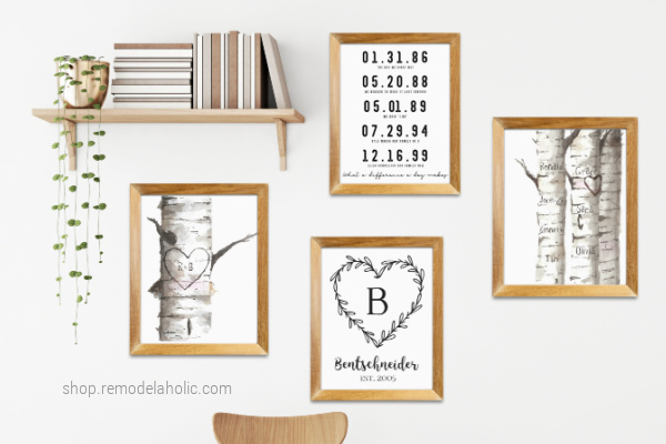 Personalized Gift Idea For Mom Friend Housewarming, Family Name Gallery Wall Printables, Remodelaholic