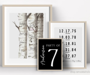 Personalized Gift Idea For Mom Or Dad, Family Art Gallery Wall, Instant Download Printable At Remodelaholic