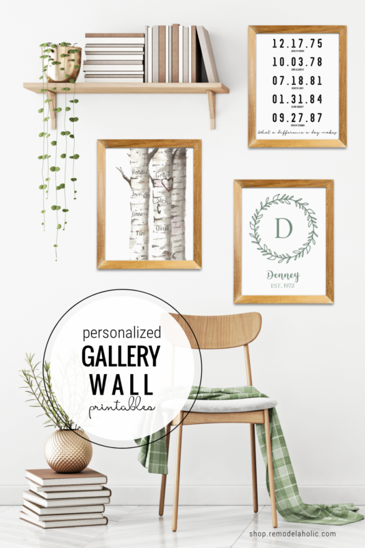 Personalized Gift Idea For Mom Or Housewarming, Custom Name And Date Gallery Wall Printables, Remodelaholic