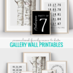 Personalized Gift Idea, Printable Family Name Gallery Wall Ideas, Remodelaholic