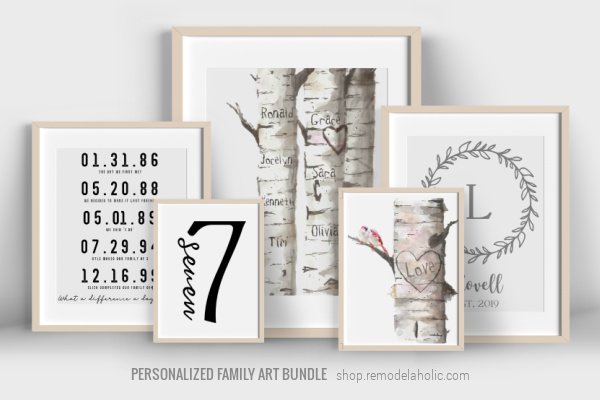 Printable Family Art Bundle Personalized Gift Idea For Mom Dad Or Grad, Instant Download Remodelaholic