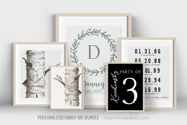 Printable Family Art Bundle Personalized Gift Idea For Mom Dad Or Graduation, Instant Download Remodelaholic