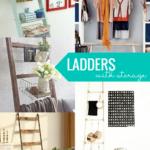 Wood Blanket Ladder Ideas With Storage Baskets Bins And Hooks, Remodelaholic