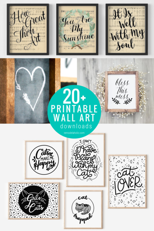 20 Printable Black And White Art Prints For Home Decor Gallery Wall, Remodelaholic