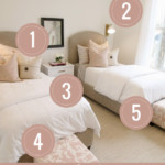 5 Tips To Get The Look Of This Neutral But Chic Pink Shared Girls Bedroom Featured On Remodelaholic.com (2)