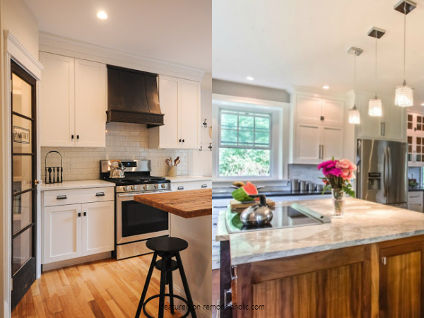 DIY Kitchen Remodel Ideas With Before And After Pictures For Expanding Small Kitchens, Remodelaholic