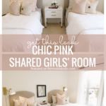 Go For Sophisticated And Chic With This Neutral And Pink Shared Girls Bedroom. Find Out How To Get The Look At Remodelaholic.com (1)