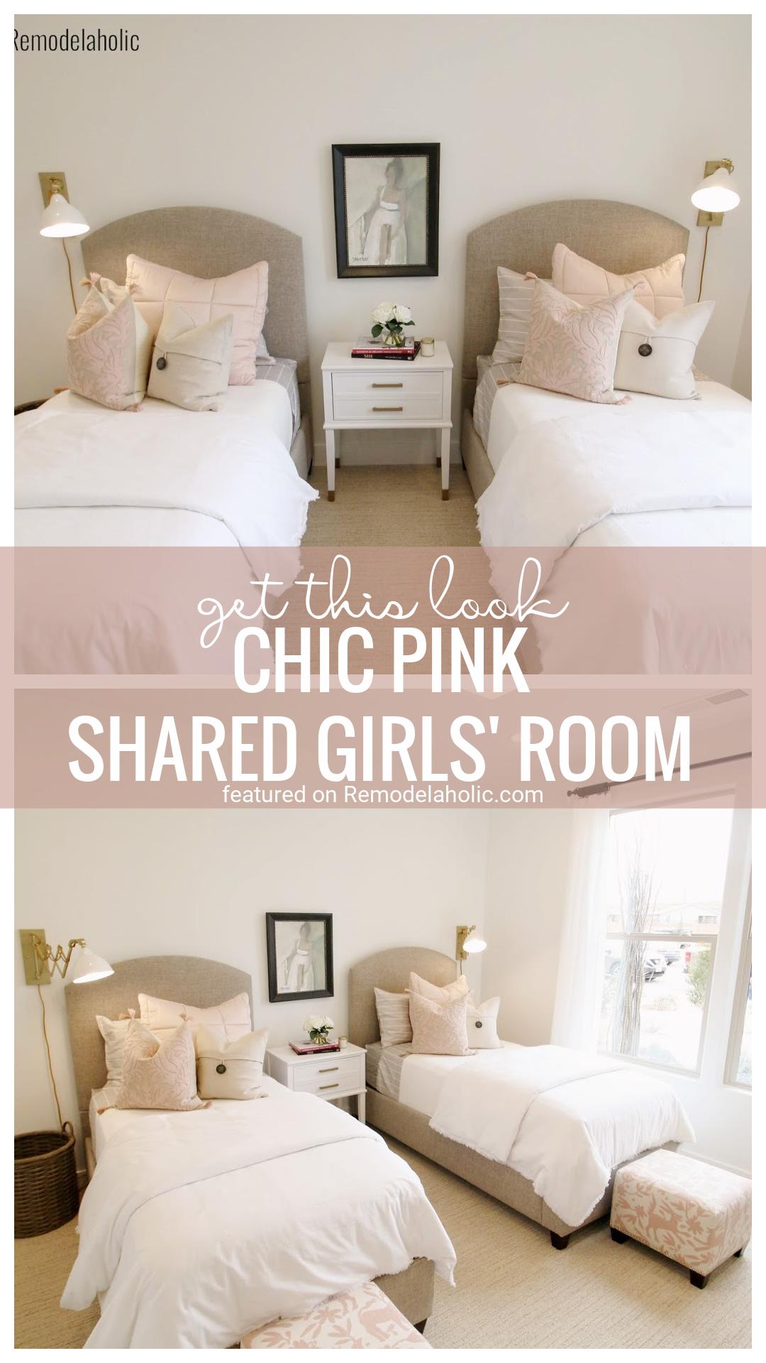 Menjen kifinomult és elegánsvá ezzel a semleges és rózsaszín közös hálószobával.  Tudja meg, hogyan tekintheti meg a Remodelaholic.com webhelyet (1)