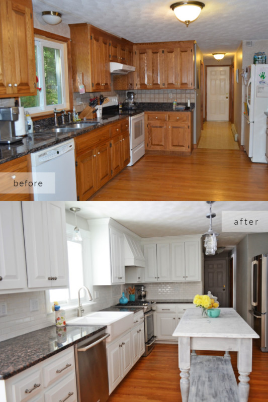 Dated Oak Wood To Elegant White Kitchen Remodel, Everyday Enchanting On Remodelaholic