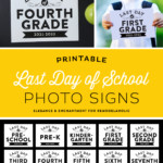 First And Last Day Of School Printable Signs, Remodelaholic