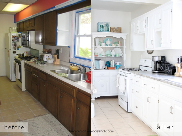 Galley Kitchen Remodel Ideas, Before And After White Kitchen Pictures, Create On Remodelaholic