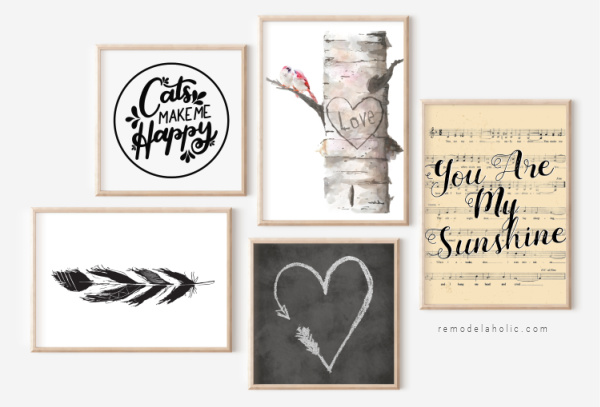 Printable Black And White Art Prints For Home Decor Gallery Wall, Remodelaholic Wm
