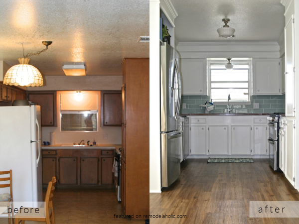 Small White Kitchen Remodel Ideas Before And After Pictures, Fisherman's Wife On Remodelaholic
