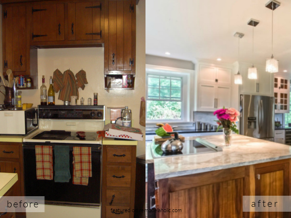 Small Kitchen Remodel To Large Open Farmhouse White Kitchen, Before And After, Stable Living On Remodelaholic