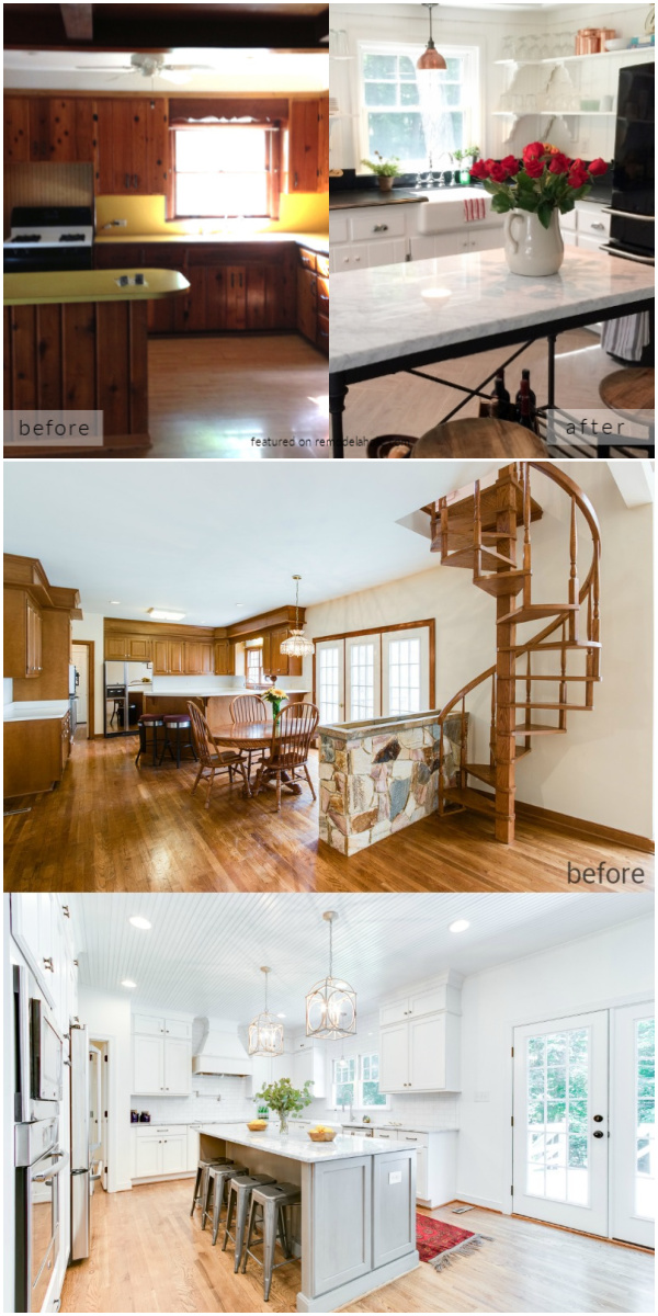 White Kitchen Remodel Ideas With Before And After Pictures And DIY Tutorials, Remodelaholic