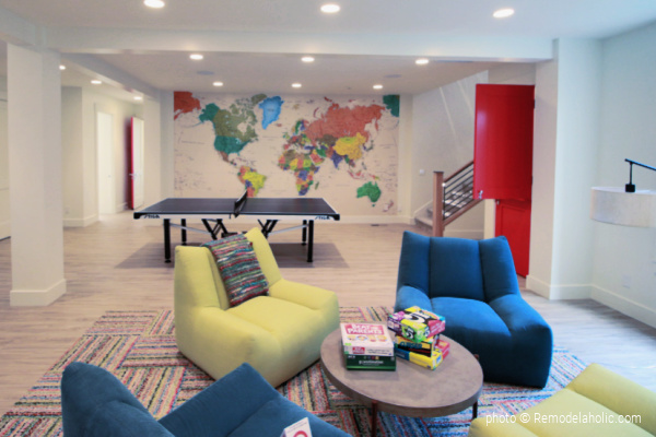 Colorful Game Room Lounge Area Map Home Color Scheme, UVPH17 House 10 Magleby Construction, Photo Remodelaholic