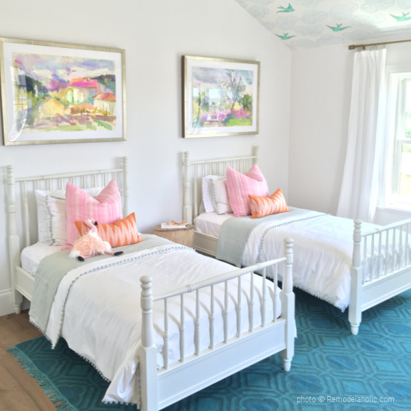 Colorful Shared Girls Bedroom Decor Ideas, 2015 UVPH, Photo Remodelaholic