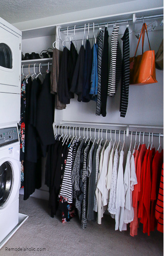 How To Create A Home Color Palette Starting With Your Closet Wardrobe Clothes Colors #remodelaholic
