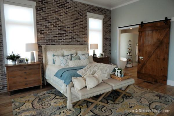 Modern Farmhouse Blue Bedroom Color Scheme, SGPH 2018 Home 20 Slate Ridge Homes, Photo Remodelaholic